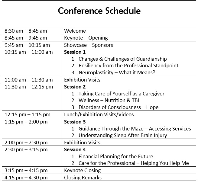 Conference schedule pic